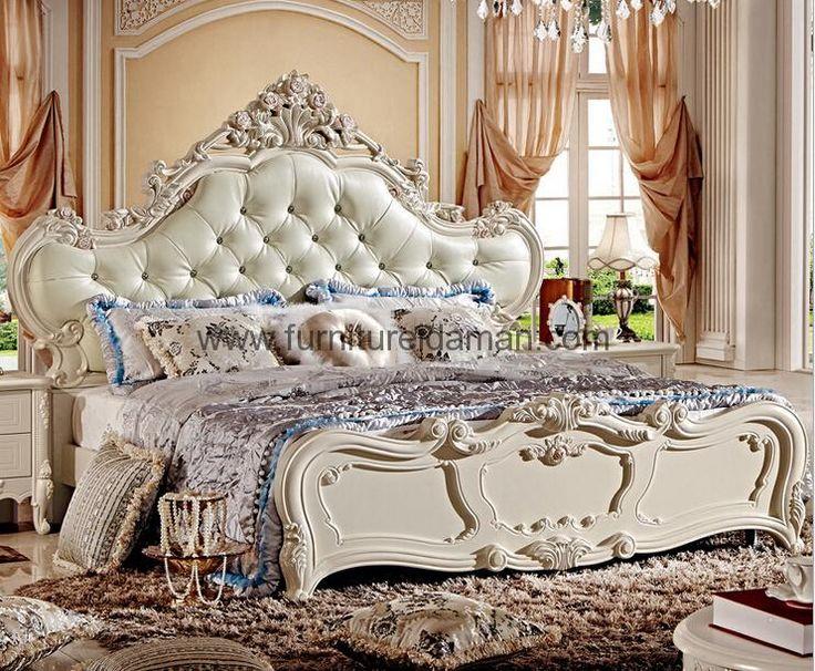 Tempat Tidur Mewah Putih Duco Terbaru-Merupakan produk Set Tempat tidur terbaru yang memiliki spesifikasi produk yang sangat baik dari desain yang Mewah