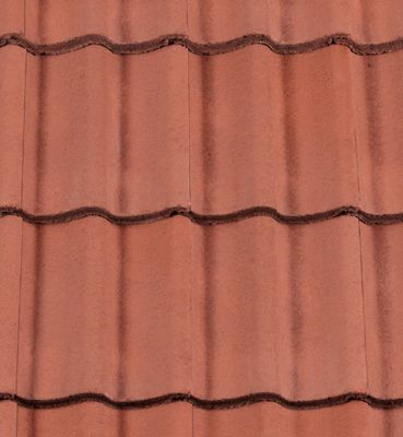 Low Pitch Redland Grovebury Roof Tiles. Terracotta colour. Can be used down to 15 degrees.