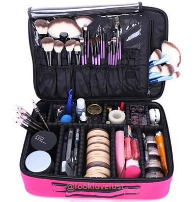 High Quality Professional Makeup Organizer Cosmetic Travel Case/ Large Capacity Storage Bag Suitcase -  - Makeup Tools, www.looklovelust.com - 1
