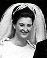 Princess Tatiana of Sayn-Wittgenstein-Berleburg on the occassion of her wedding to Prince Moritz of Hesse-Kassel, later Landgrave of Hesse, in 1964.  The marriage produced 4 children and ended in divorce after 10 years.