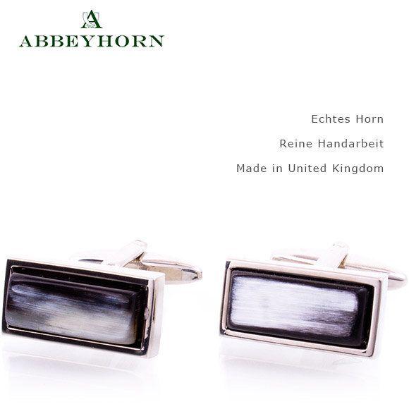 Abbeyhorn Manschettenknöpfe schmal  edle Unikate