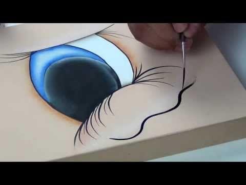 Cómo pintar 100 caras de fofuchas en pocos minutos Plantillas de ojos en foami o goma eva - YouTube
