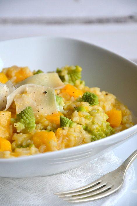 Risotto de courge butternut et de chou romanesco au cidre // Squash & romanesco broccoli cider risotto http://www.lesrecettesdejuliette.fr