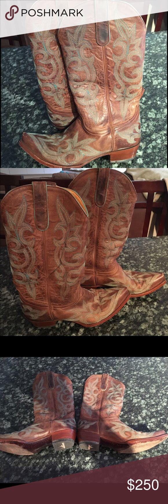 """Spotted while shopping on Poshmark: Old Gringo turquoise stitched 10"""" boot! #poshmark #fashion #shopping #style #Old Gringo #Shoes"""