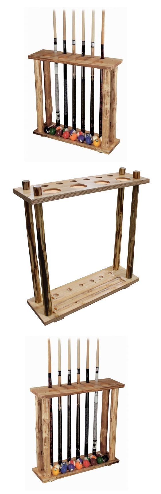 Ball and Cue Racks 75185: Pool Table Accessories Billiards Cue Rack Ball Stand Game Room Storage Wood Fun -> BUY IT NOW ONLY: $86.97 on eBay!