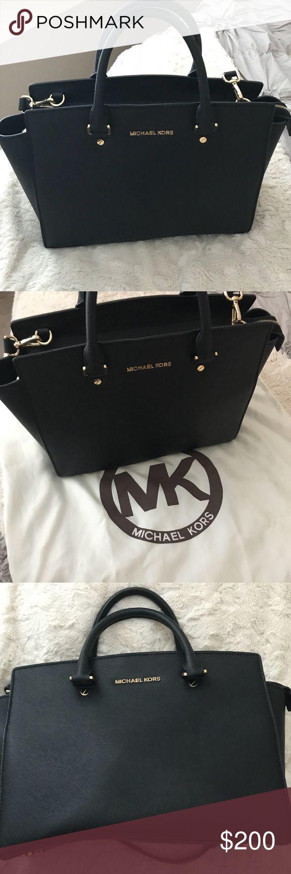 Michael Kors Handbag Authentic Michael Kors Large Selma Saffiano Leather Satchel. Color is black. In Excellent condition. Comes with MK logo satin protective bag. Michael Kors Bags Satchels