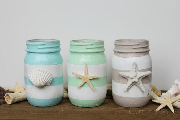Spring Inspired Mason Jars