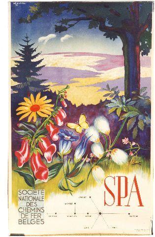 Mathieu - Spa - 1946 vintage poster