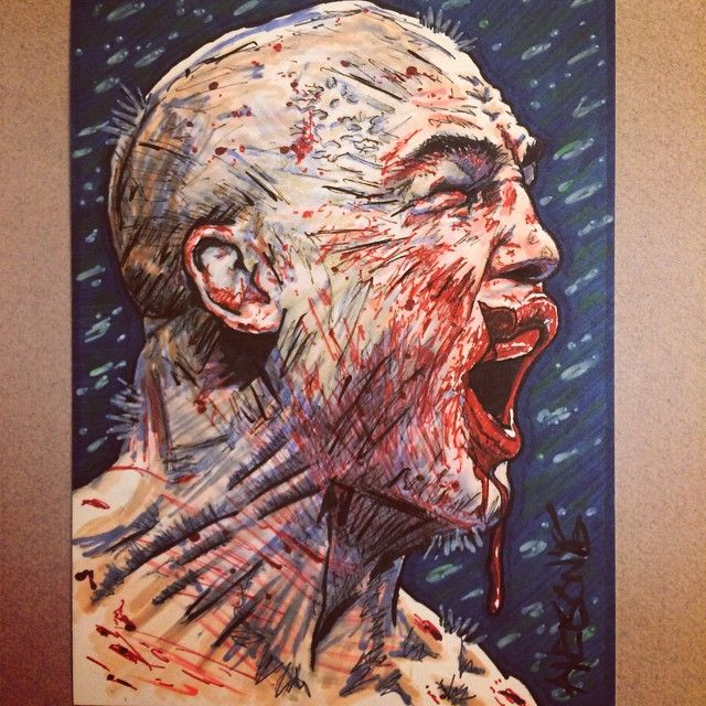 """fan-art of """"Split Lip"""" Robbie Lawler after Rory MacDonald fight : if you love #MMA, you'll love the #UFC & #MixedMartialArts inspired fashion at CageCult: http://cagecult.com/mma"""