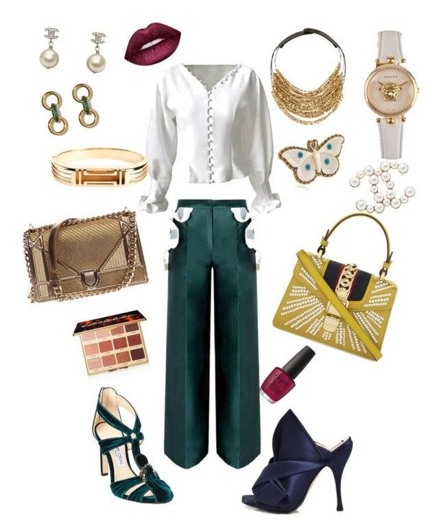 on Polyvore featuring polyvore, fashion, style, N°21, Jimmy Choo