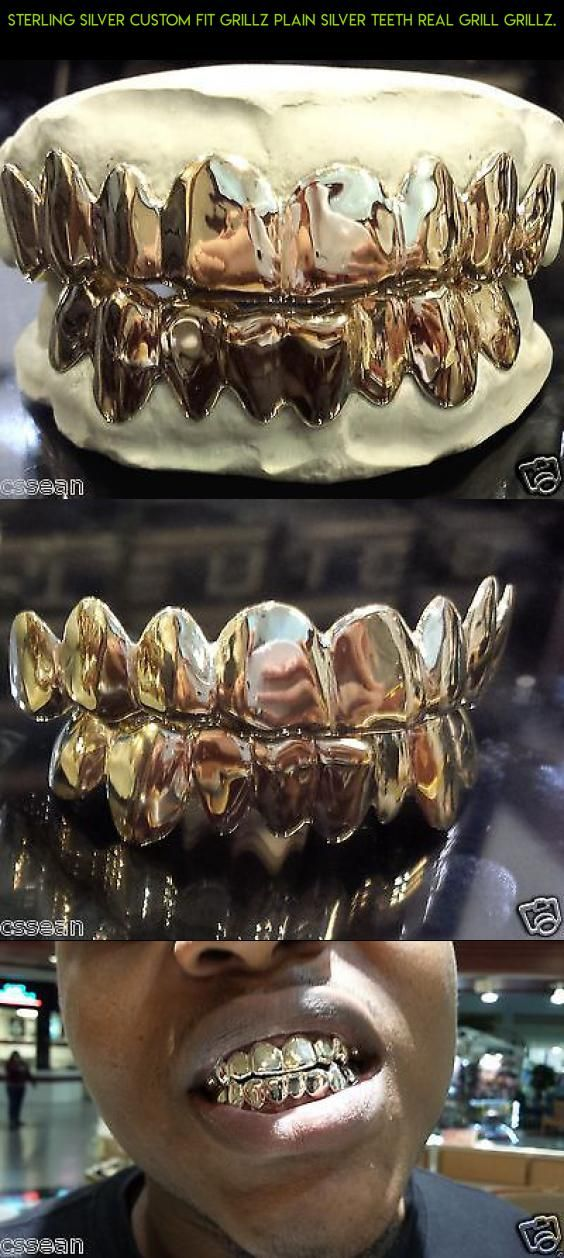 Sterling Silver Custom fit Grillz Plain Silver teeth REAL Grill Grillz. #fpv #products #gadgets #tech #racing #camera #kit #drone #plans #teeth #bottom #technology #shopping #parts #grills