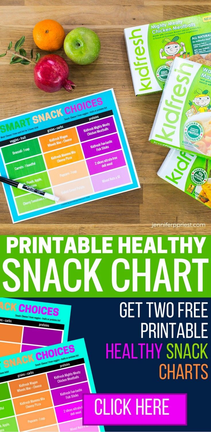 Mom Hack Printable Snack Chart For Back To School Kids Meal Plan Meal Planning Chart Smart Snacks
