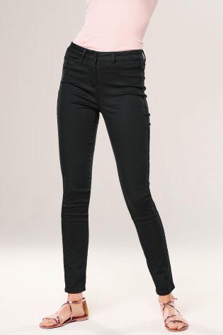 Black Ripped Denim Leggings
