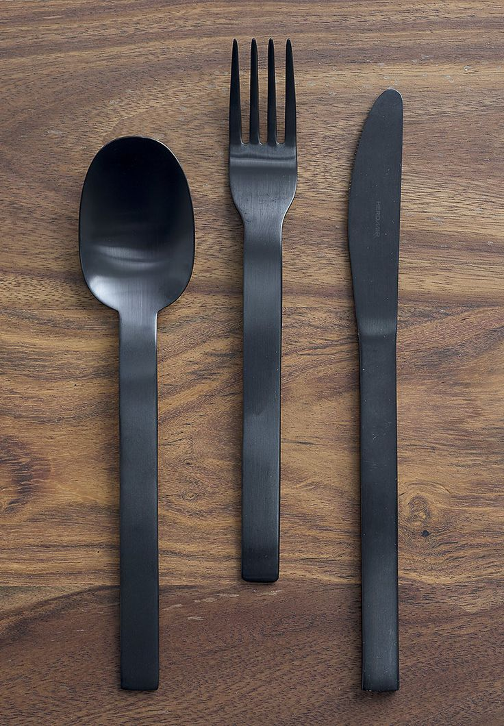 This matte black cutlery set adds a modern touch to your kitchen and will work with any color scheme you bring into the space.