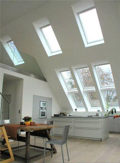 Küchen unter Dachschrägen, 40+1 Planungsideen #küche #dachschräge - küche in dachschräge