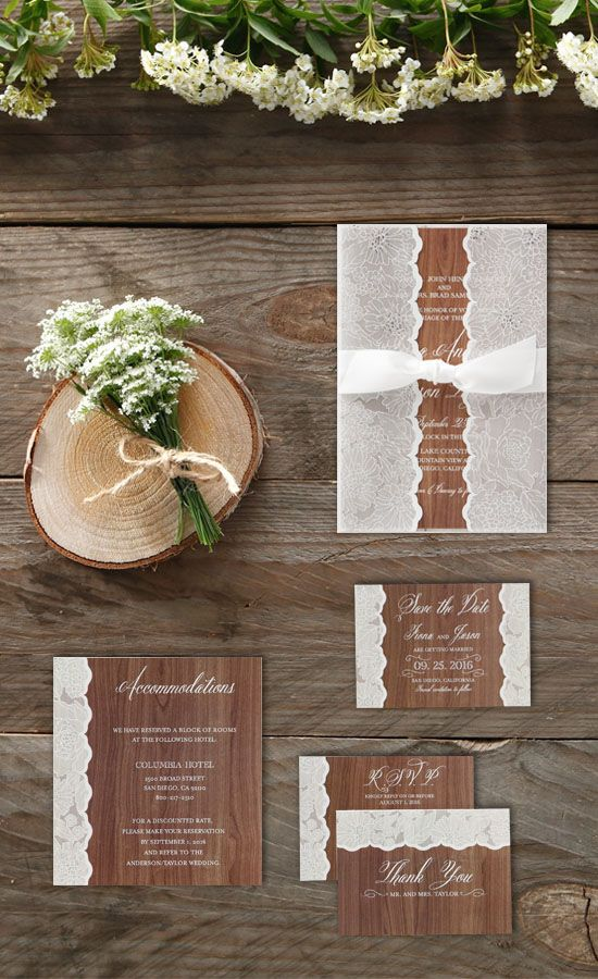 Wood printed wedding invitation wrapped inside a silver struck vellum folder with flower prints from @bwedding