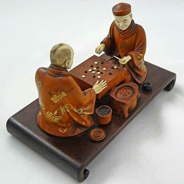 @Regrann from @thegoblog - Two men playing Go Meiji period (1868-1912) Japan ivory and wood okimono. #baduk #weiqi #igo #囲碁 #바둑 #围棋 #gogame #Regrann http://ift.tt/1RnjH2c