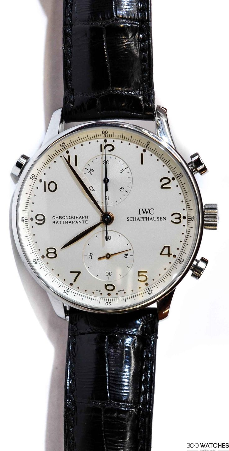 Mens IWC Portuguese SS Rattrapante Chronograph Hand Winding | chronograph watches for men Item ID: 300W109349 | 300watches