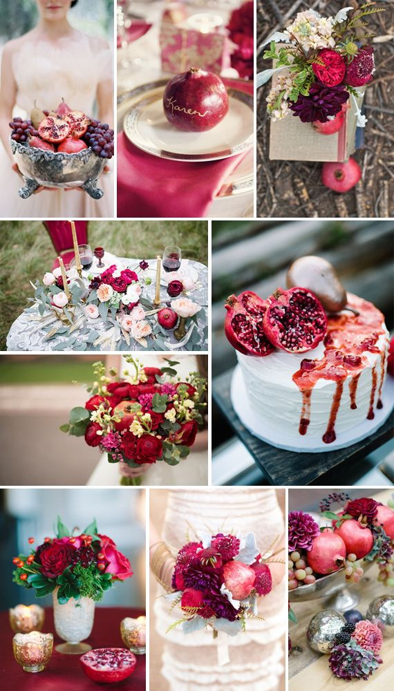 Pomegranate Wedding Inspiration!