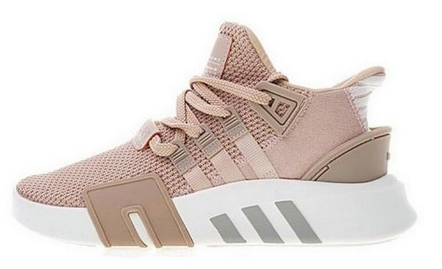 buy online 28ce8 b6050 Real Adidas EQT Basketball ADV Womens Ash Peach White Knit Athletic Shoes  AC7352