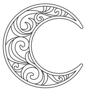 Crescent Moon | Urban Threads: Unique and Awesome Embroidery Designs