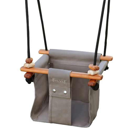 Solvej Baby-Toddler Indoor-Outdoor Swing, Taupe
