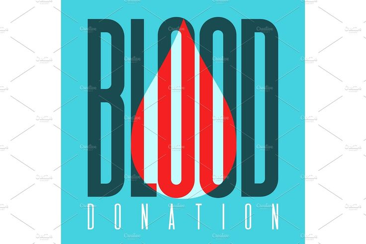 Typography poster for blood donation day by kotoffei on @creativemarket