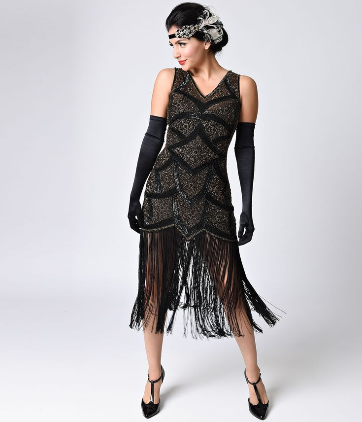 Black Great Gatsby Dresses Tenuestyle