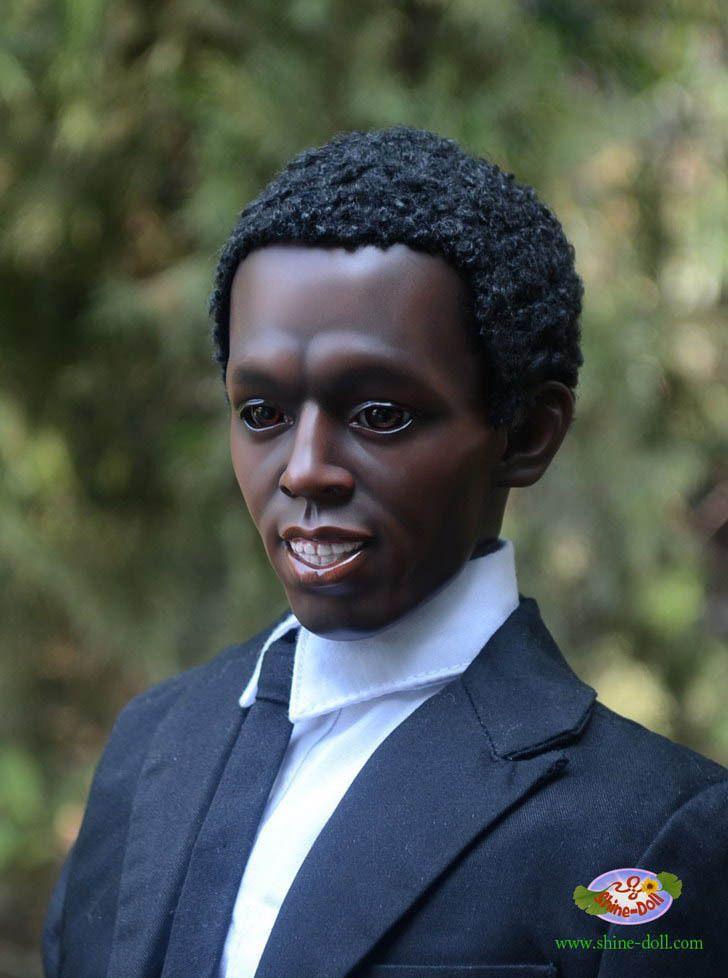 Black Bjd African True Life Heads Portrait Custom Tailor