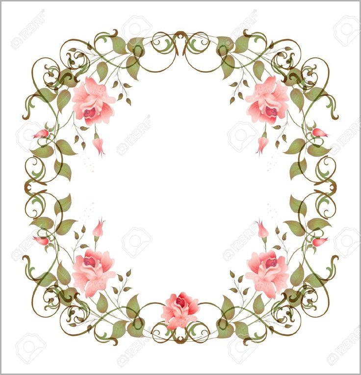 6630293-marco-floral-Vintage-Foto-de-archivo.jpg (1252×1300)