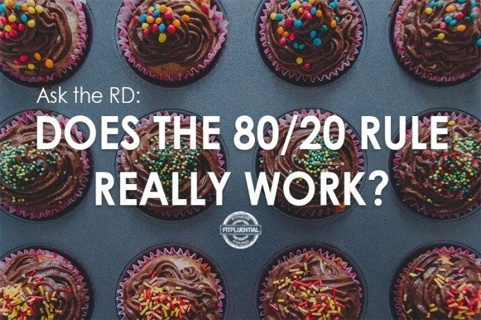 """Ask the RD: Does the 80/20 Rule Really Work? They say """"everything in moderation,"""" but does it work for weight loss or maintenance?"""