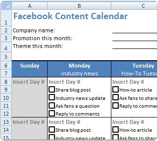 #Facebook content schedule - plan your monthly updates| I have been looking for something like this.  Lot's of great #content ideas