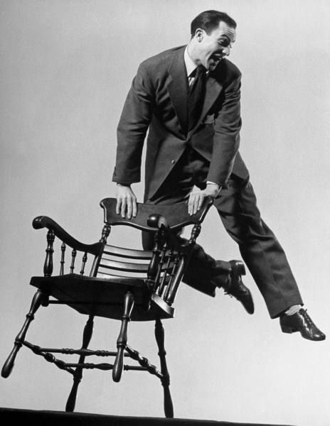 Gene Kelly. Such an amazing dancer. I could only hope to be half as good a dancer as he is.