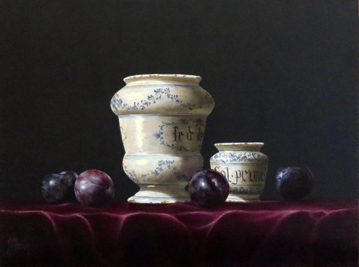 Ian Mastin, Two Apothecary Jars, Acrylics | Contemporary Scottish Art