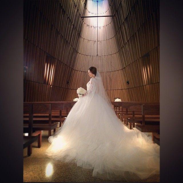 グランドハイアット東京で撮影してます^_^ #Wedding #Weddingdress #bride #bridal #grandhyatttokyo#ウエディング#ウエディングドレス#グランドハイアット東京#グランドハイアット#チャペル#結婚式#ハツコエンドウ #HatsukoEndo