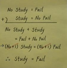 Friday Fun: Why not celebrate the end of the exam season by considering the mathematical value of studying...