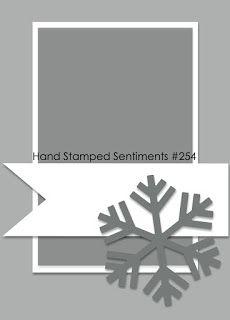 Hand Stamped Sentiments stamping challenge blog and paper craft challenge blog: HSS Sketch Challenge #254