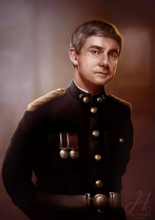 Love! Captain Doctor John H. Watson of the Fifth Northumberland Fusiliers in his No. 1 dress uniform