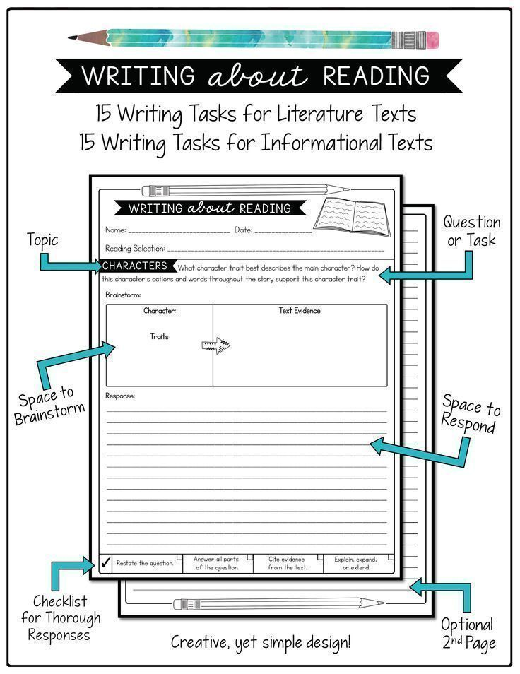 Writing prompts to go with any text! 15 prompts for literature texts and 15 prompts for informational texts.
