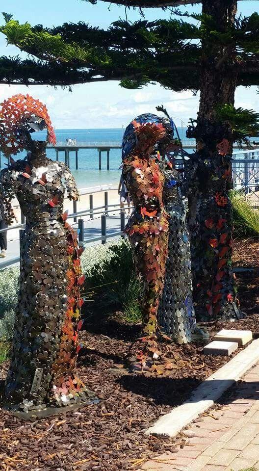 Four Seasons metal sculptures by Marc Spurgin
