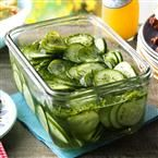 Freezer Cucumber Pickles Recipe | Taste of Home