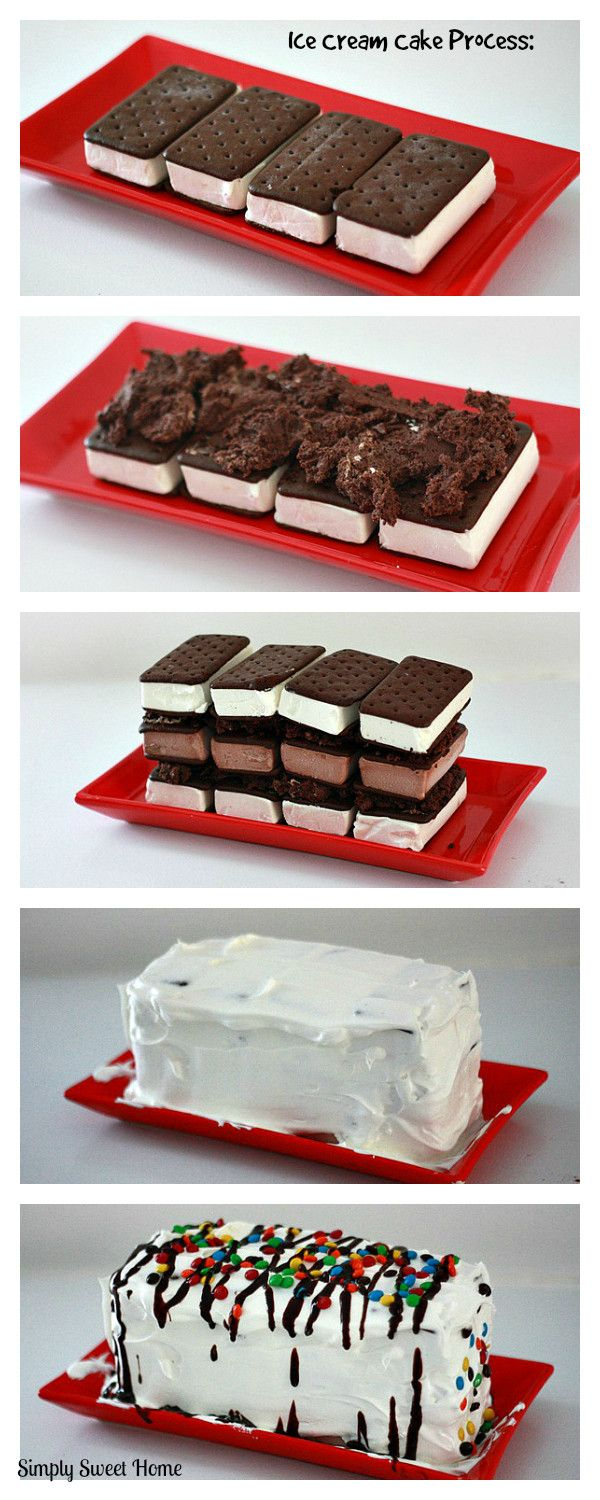 Ice Cream Sandwich Cake Process