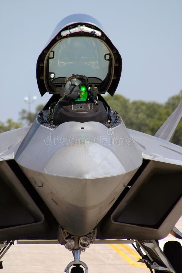 F 22 Raptor Cockpit An F 22 Raptor Stealth Fighter With The