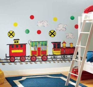 Väggdekor Tåg All Aboard! MEGA i gruppen BABY & BARNAVDELNINGEN / Dekorer/Väggdekorationer hos HouseofHedda.com (r2DekorTAgStor)