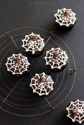 Black Widow Chocolate Rum Cupcakes