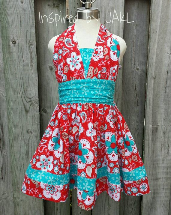 On sale! Check out this item in my Etsy shop https://www.etsy.com/listing/212457674/sale-girls-56t-redaqua-lexies-retro