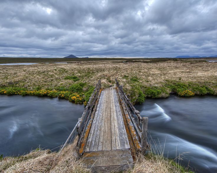 A bridge to somewhere in Iceland. Where? I don't know.