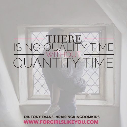 """Raising Kingdom Kids by Dr. Tony Evans Book Giveaway!  """"When it comes to parenting and raising kingdom kids, I believe a primary principle has to be this: There is no quality time without quantity time."""""""