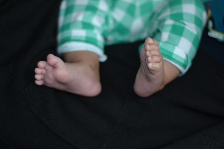 Baby feet, never walked on
