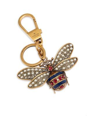e2372ec7d4b GUCCI Queen Margaret Embellished Bee Keychain.  gucci  keychain ...